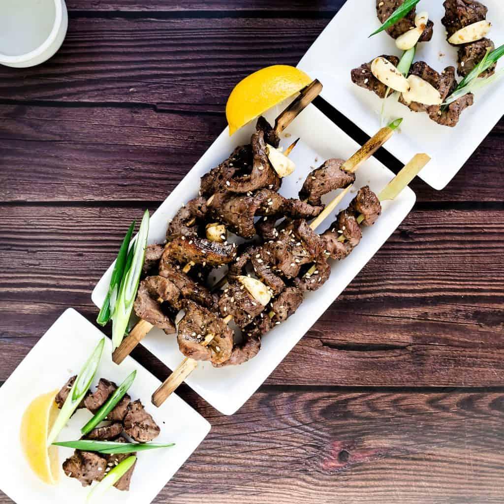 Keto Japanese Beef Skewers - Kushiyaki LowCarbingAsian Pic 2