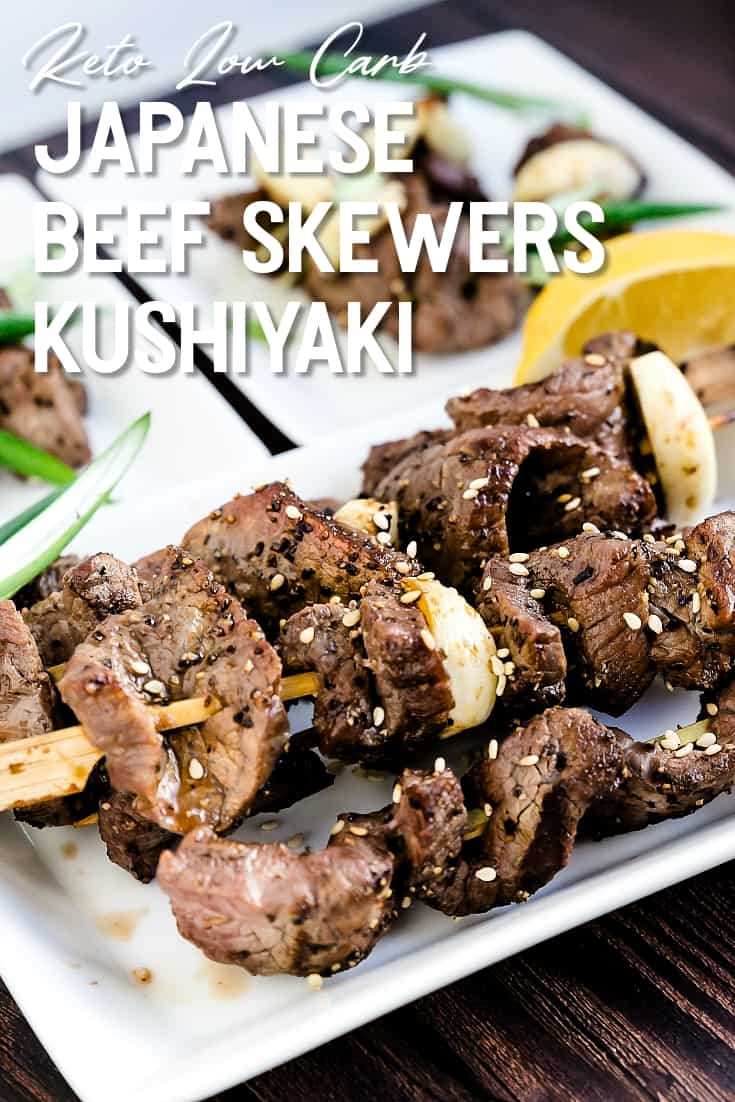 Keto Low Carb Japanese Beef Skewers - Kushiyaki