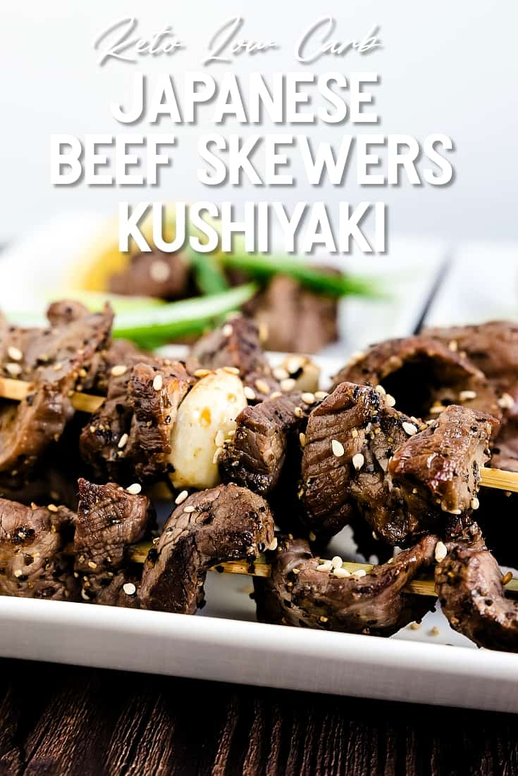 Keto Japanese Beef Skewers - Kushiyaki LowCarbingAsian Pin 2