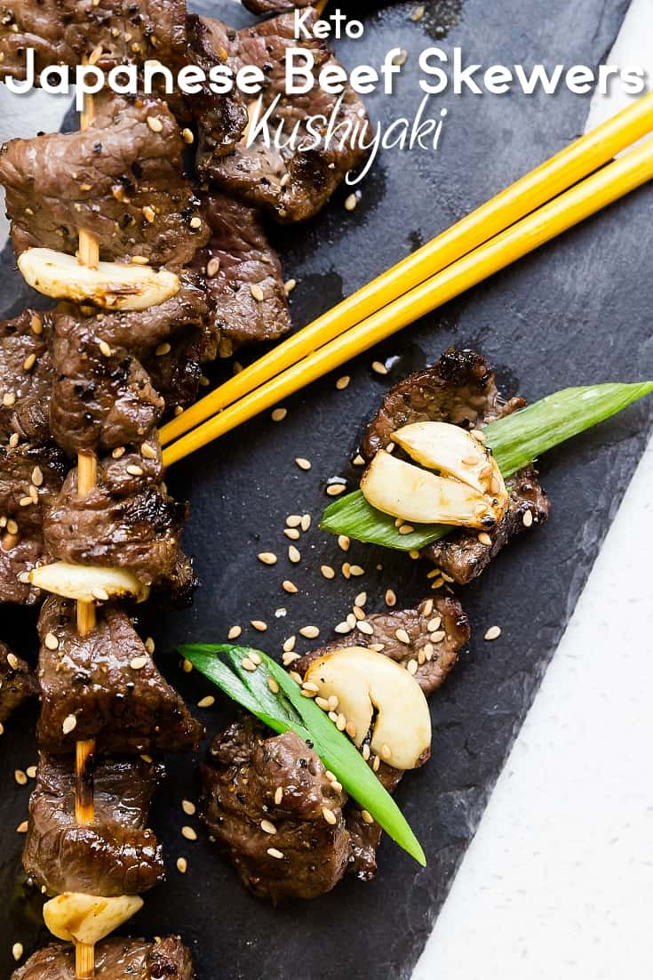 Keto Japanese Beef Skewers Kushiyaki LowCarbingAsian Pin 4