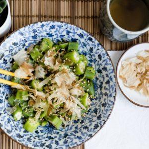 Keto Japanese Okra Salad LowCarbingAsian Cover