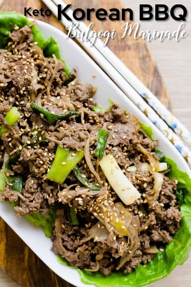 Keto Korean BBQ Bulgogi Marinade LowCarbingAsian Pin 1