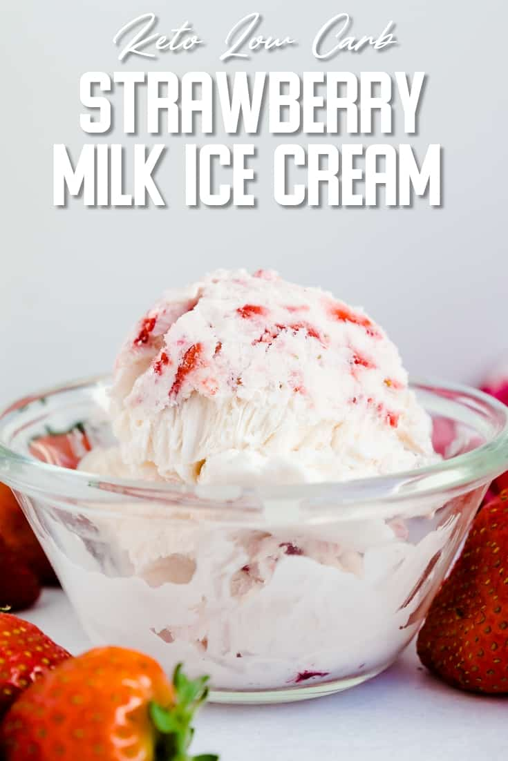 Keto Strawberry Milk Ice Cream LowCarbingAsian Pin 1