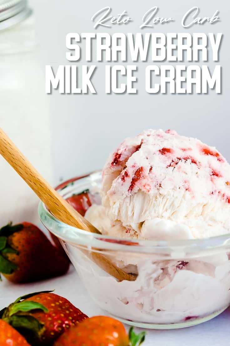 Keto Strawberry Milk Ice Cream LowCarbingAsian Pin 2