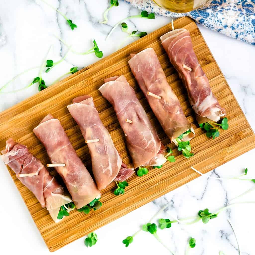 Prosciutto Radish Sprouts Wraps with Japanese Garlic Mayo LowCarbingAsian Pic 2