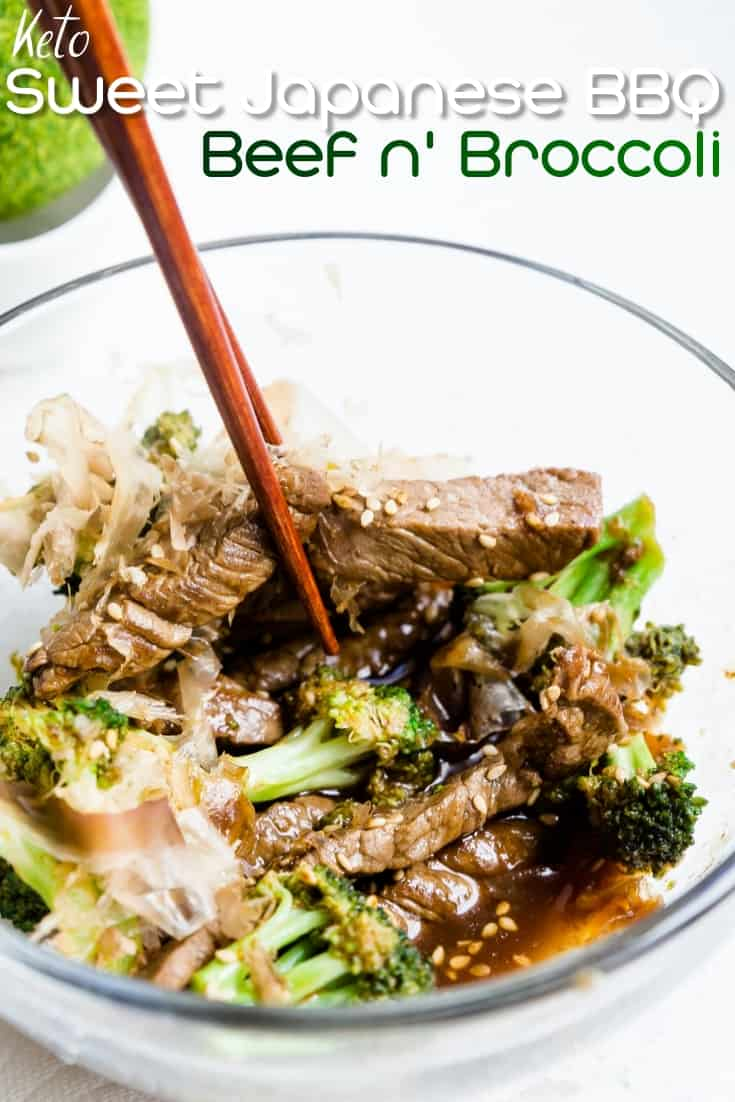 Sweet Japanese BBQ Beef n' Broccoli LowCarbingAsian Pin 2