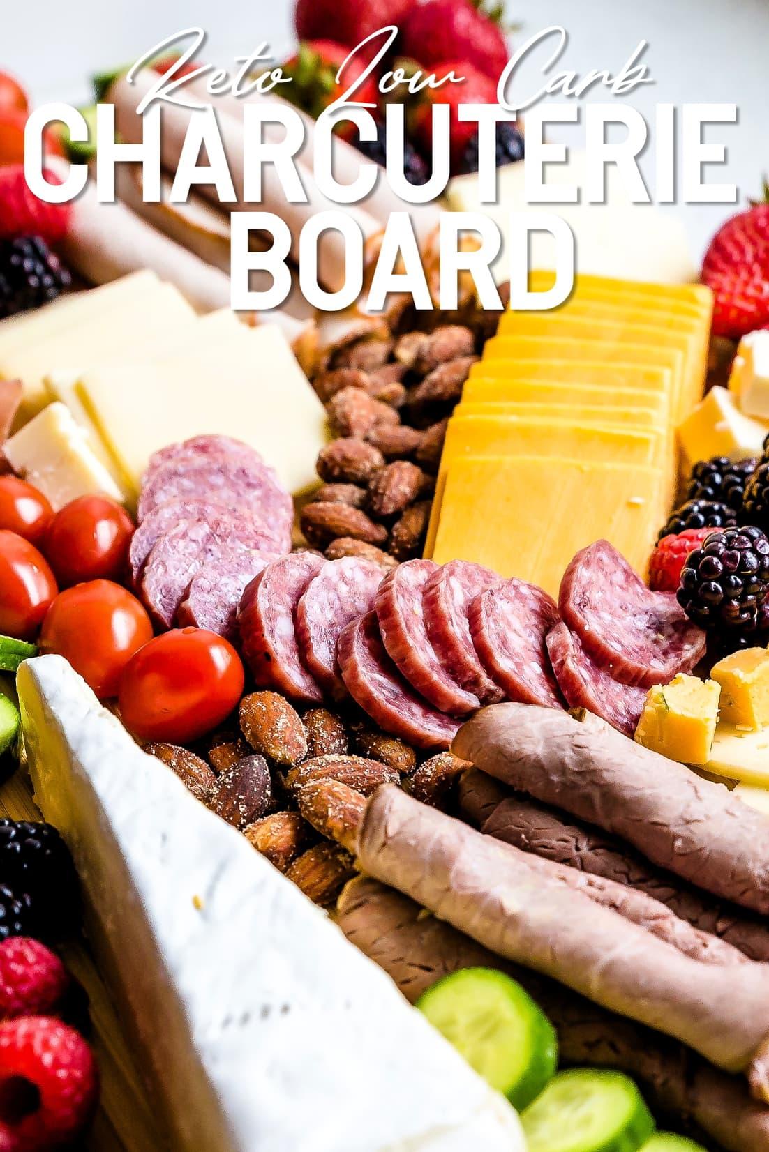 Keto Charcuterie Board close up