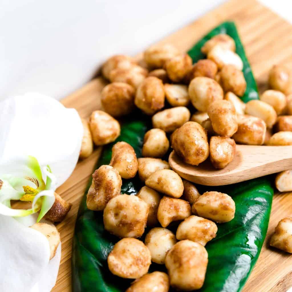Keto Cinnamon Sugar Glazed Macadamia Nuts LowCarbingAsian Pic 2