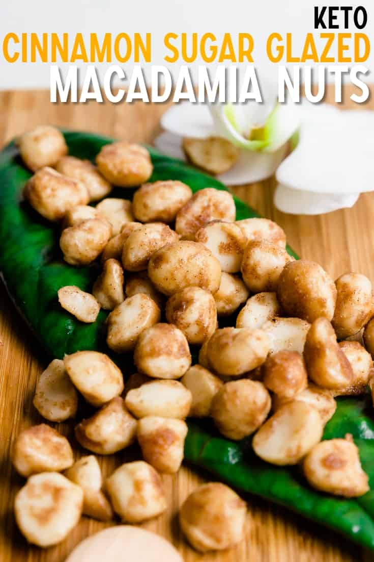 Keto Cinnamon Sugar Glazed Macadamia Nuts LowCarbingAsian Pin 1