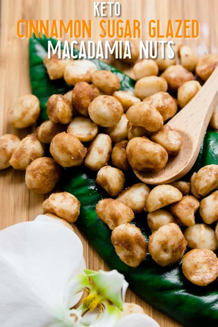 Keto Cinnamon Sugar Glazed Macadamia Nuts LowCarbingAsian Pin 2