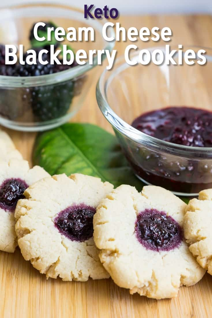 Keto Cream Cheese Blackberry Cookies LowCarbingAsian Pin 2