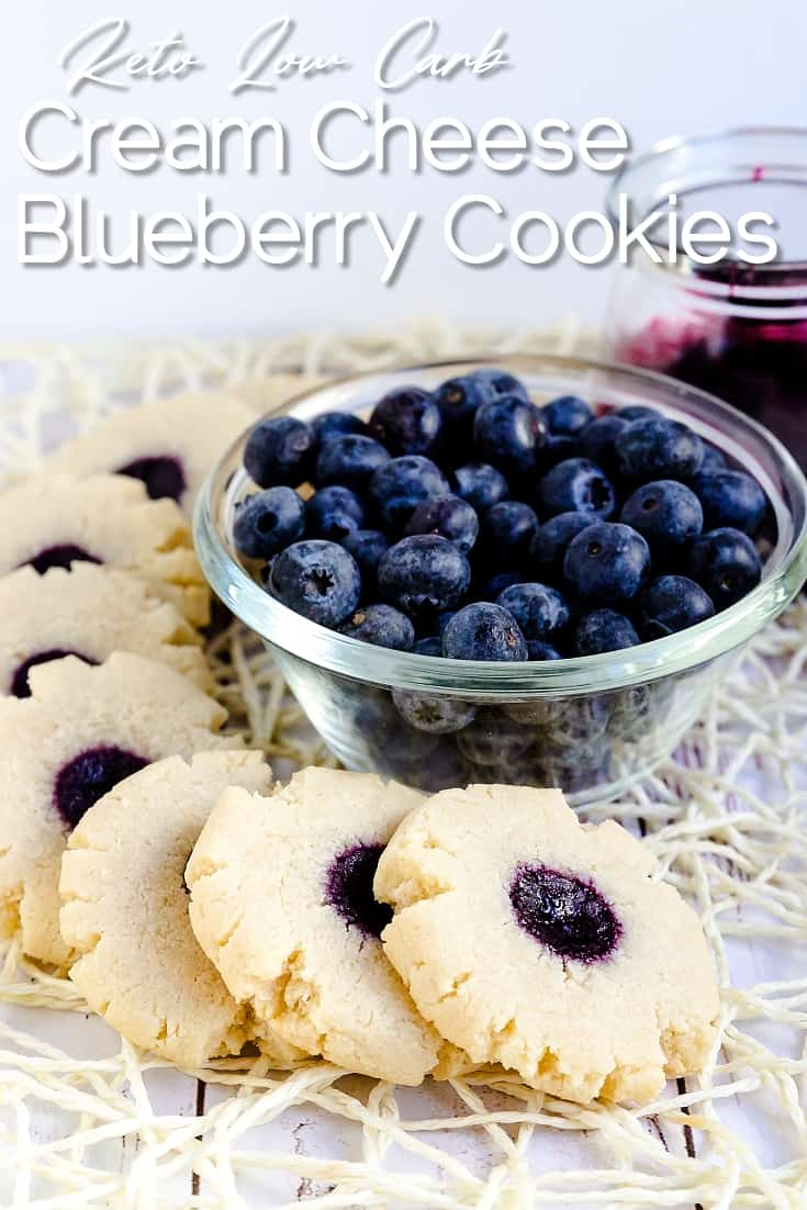 Keto Low Carb Cream Cheese Blueberry Cookies