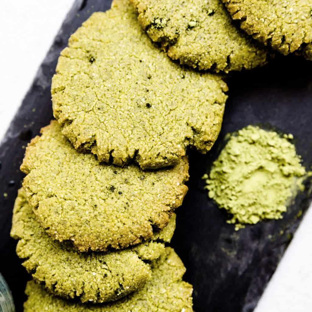 Keto Cream Cheese Matcha Cookie LowCarbingAsian Pic 2