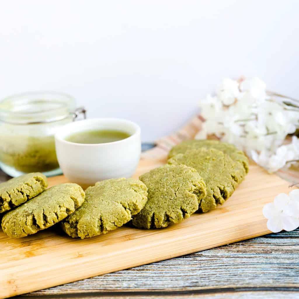 Keto Cream Cheese Matcha Cookies LowCarbingAsian Pic 1