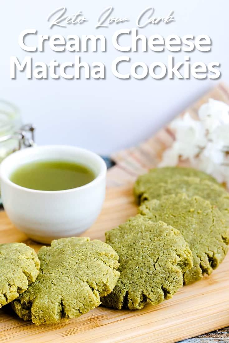 Keto Low Carb Cream Cheese Matcha Cookies