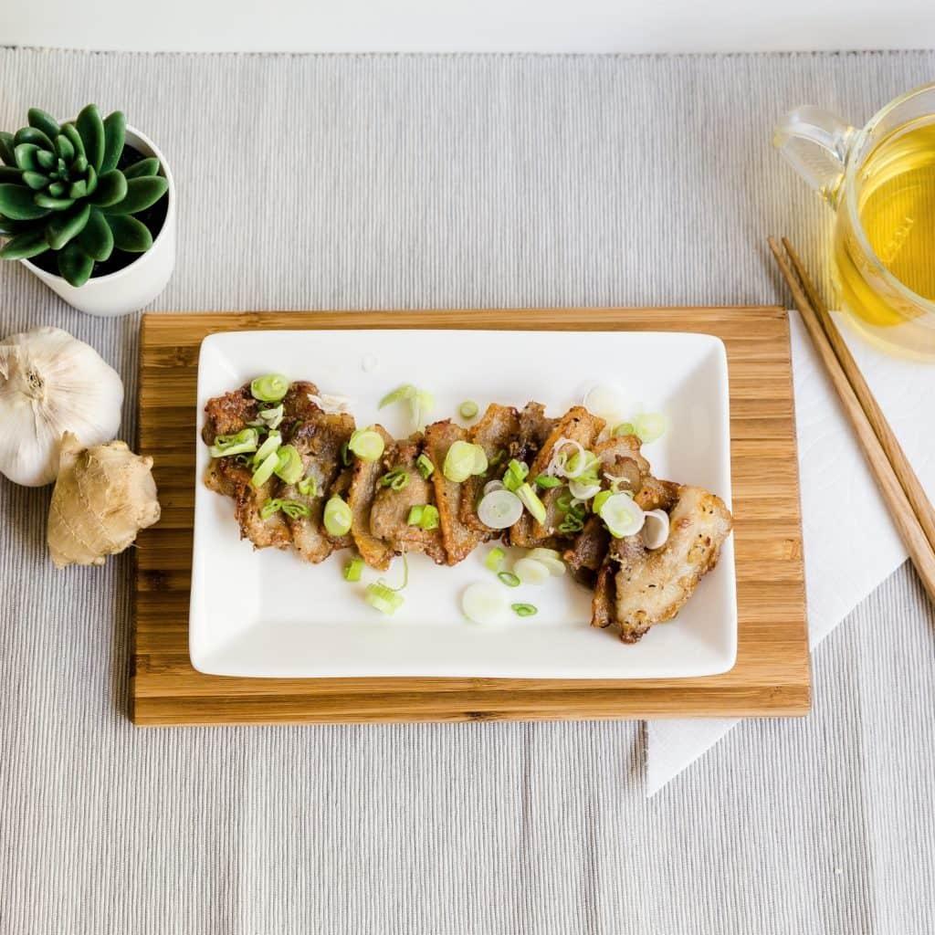 Keto Crispy Sesame Ginger Pork Belly Low Carbing Asian Pic