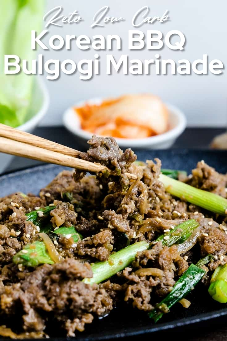 Keto Low Carb Korean BBQ Bulgogi Marinade