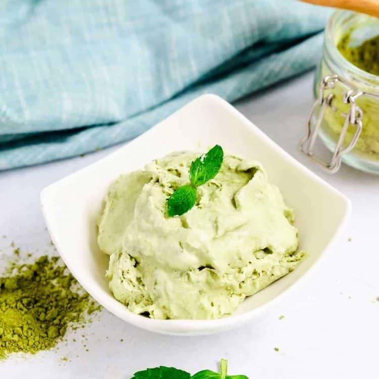Keto Mason Jar Matcha Ice Cream LowCarbingAsian Cover