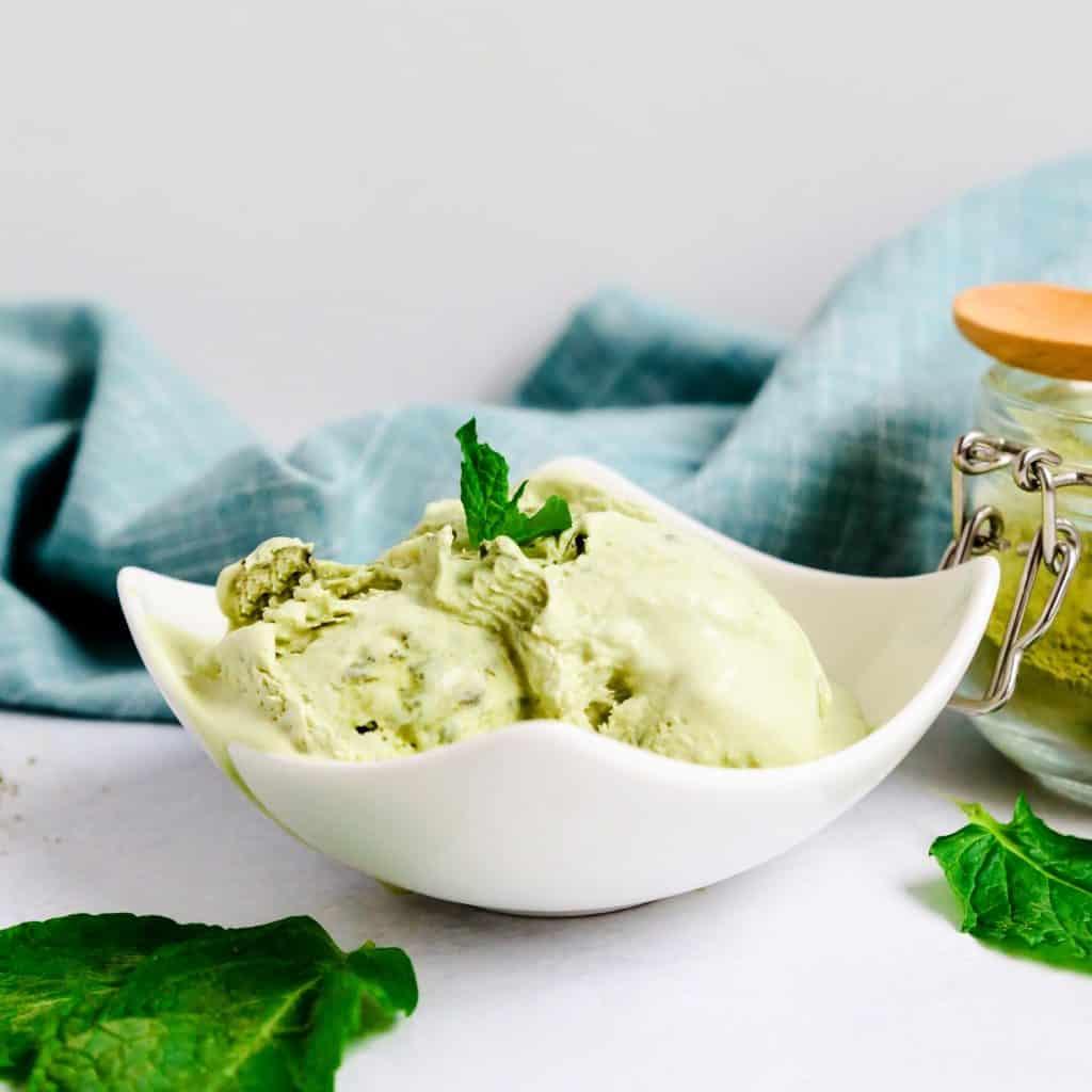 Keto Mason Jar Matcha Ice Cream LowCarbingAsian Pic 1
