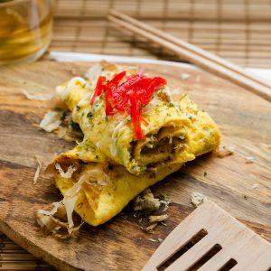 Keto Okonomiyaki Egg Roll Up LowCarbingAsian Cover