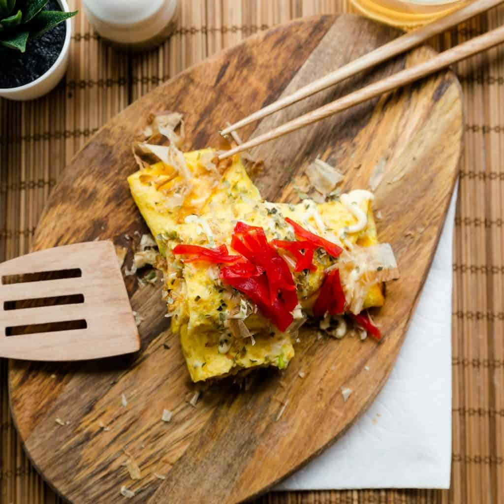 Keto Okonomiyaki Egg Roll Up LowCarbingAsian Pic