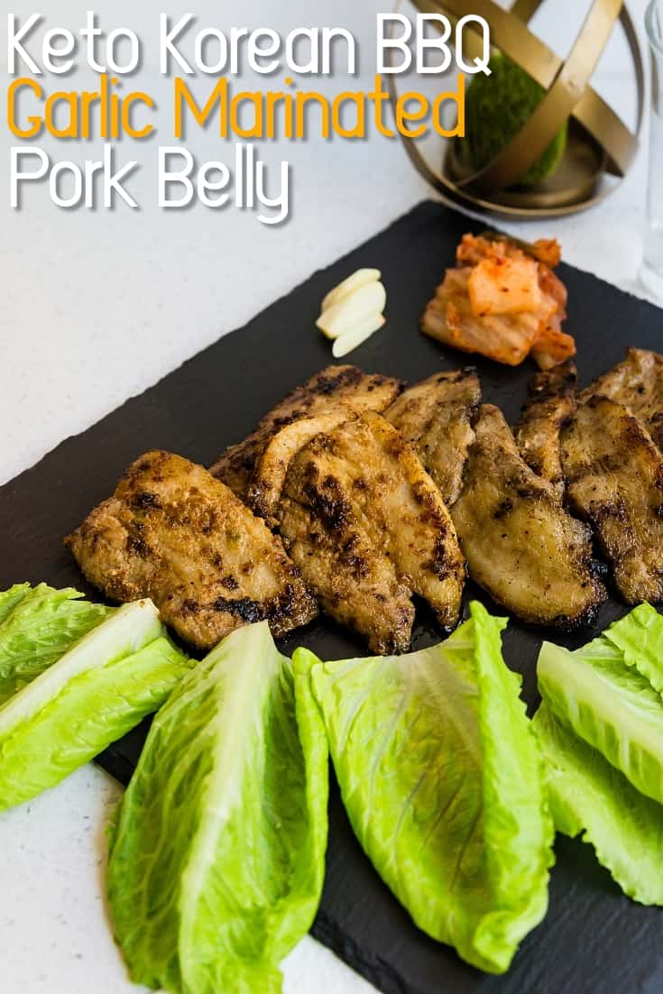 Korean BBQ Garlic Marinated Pork Belly Korean BBQ LowCarbingAsian Pin 1