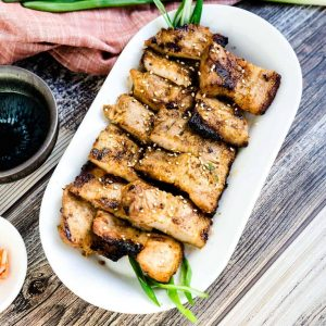 Korean BBQ Garlic Marinated Pork Belly LowCarbingAsian Cover