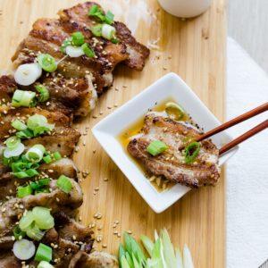 Korean Bbq Grilled Pork Belly Lowcarbingasian