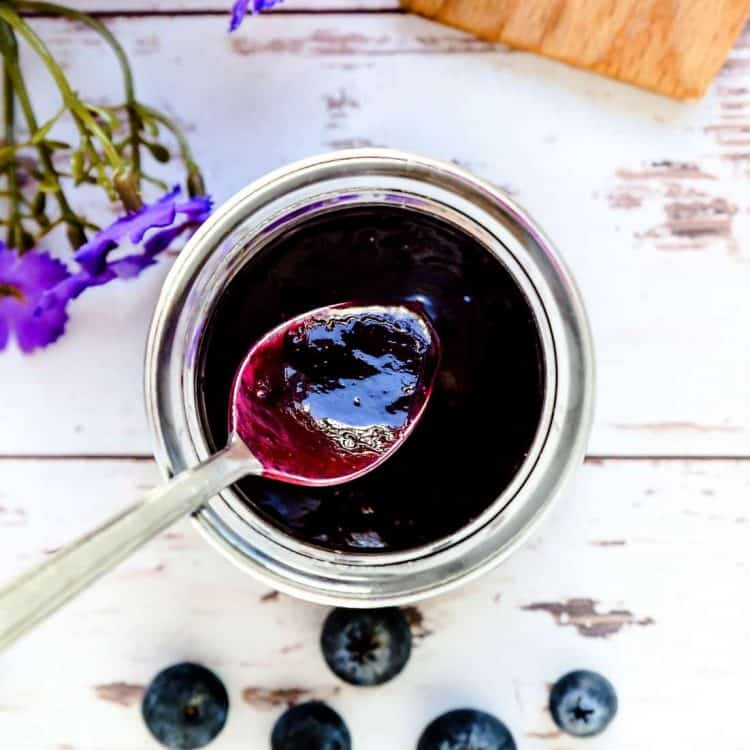 Low Carb Blueberry Sauce LowCarbingAsian Cover