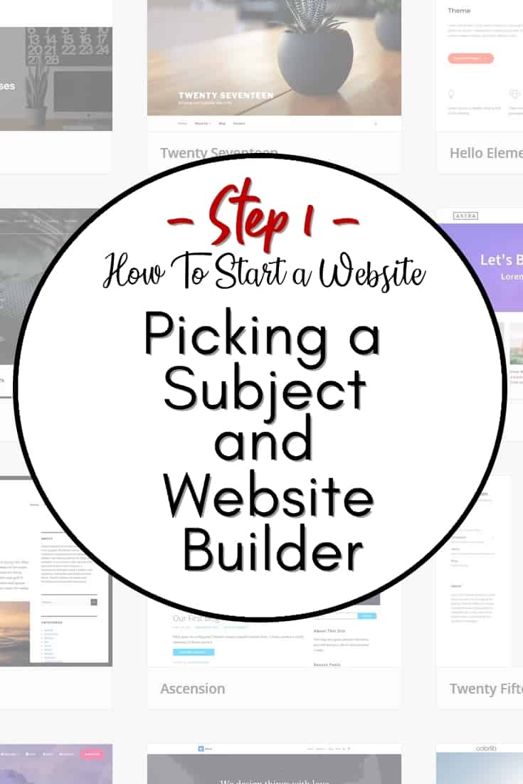 Picking a Website Subject and Website Builder - In step 1, we will discuss various topics as such how to pick a competitive topic for your website, as well as choosing a website builder and theme to work with.