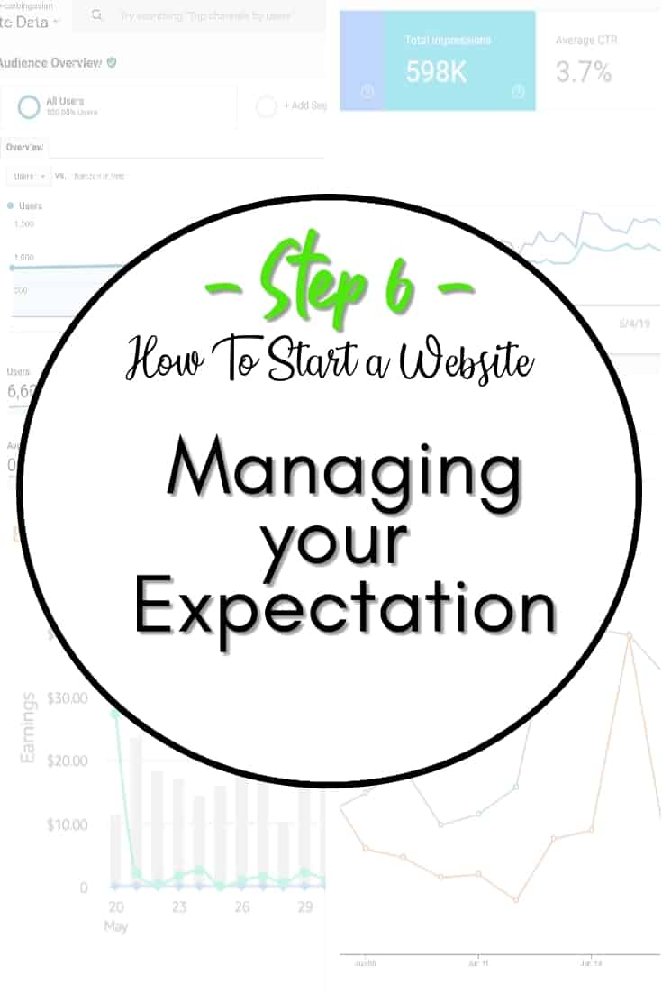 Website income expectations - In step 6, we will talk about what we have learned so far and what an honest outlook for year 1 of running a website looks like.