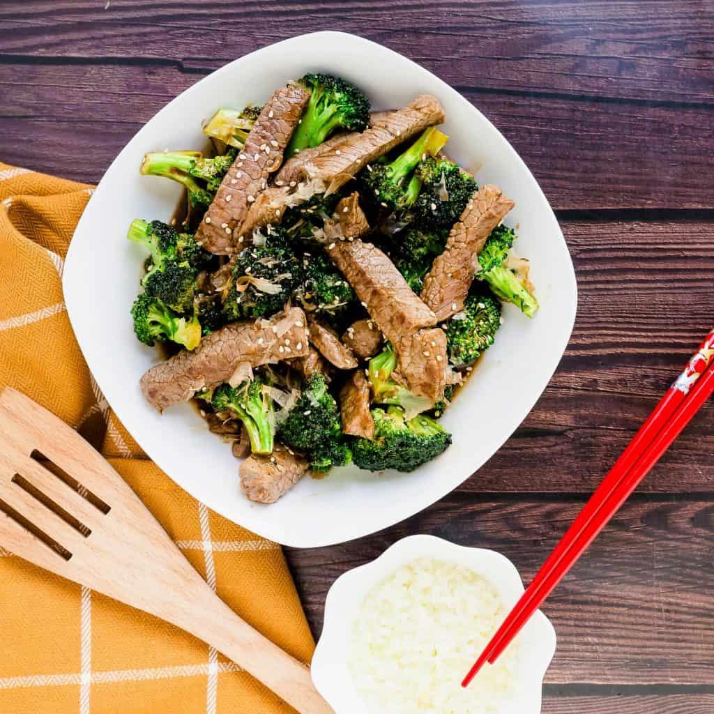Sweet Japanese BBQ Beef n' Broccoli LowCarbingAsian Pic 1