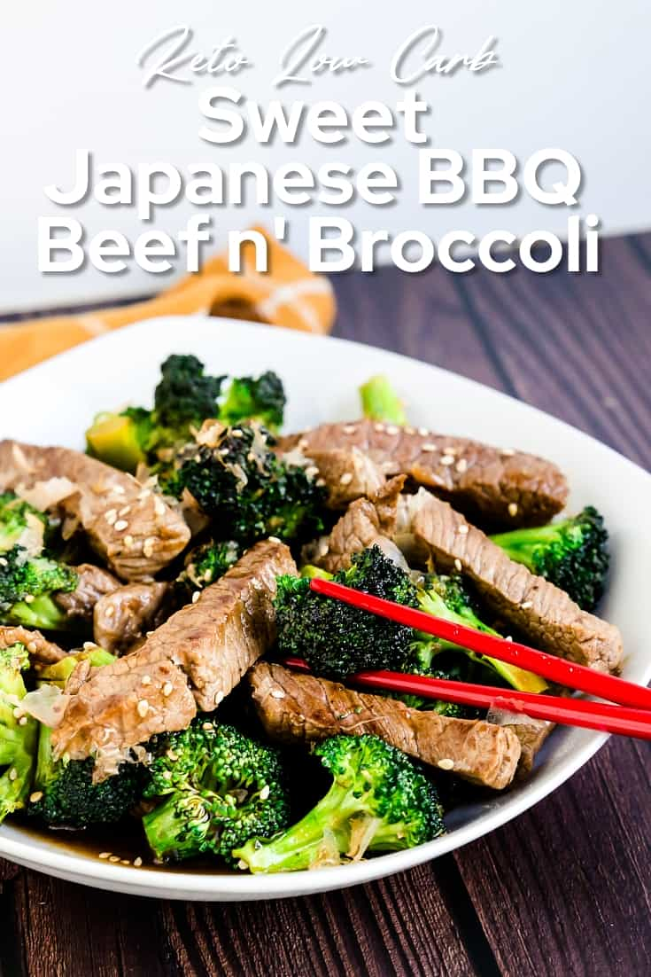 Keto Low Carb Sweet Japanese BBQ Beef n' Broccoli