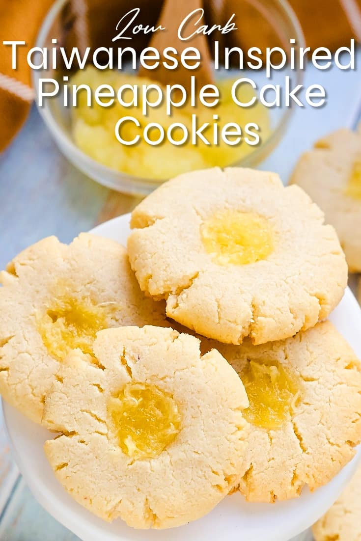 Taiwanese Inspired Low Carb Pineapple Cake Cookies