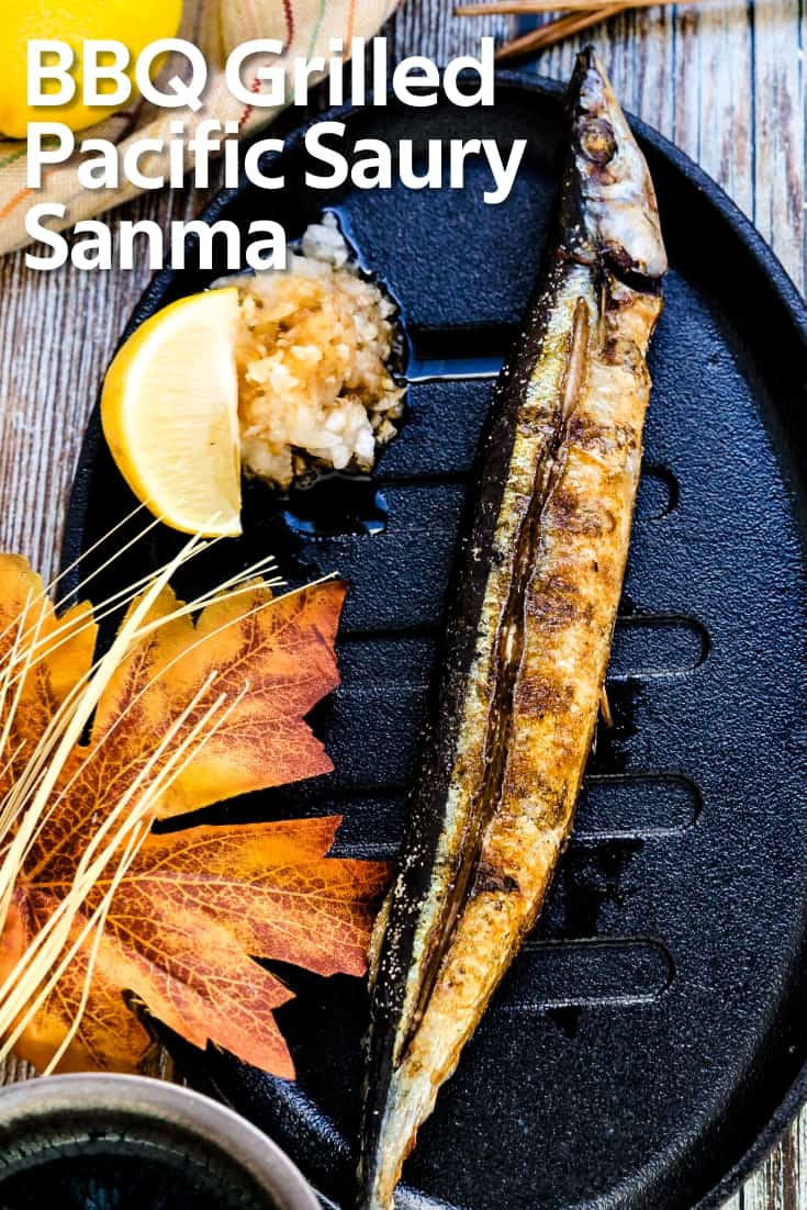 BBQ Grilled Pacific Saury - Sanma