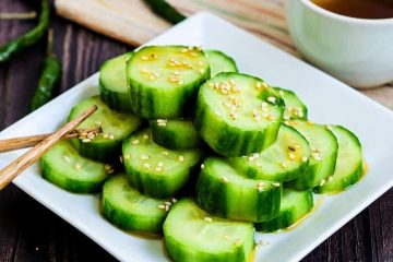 Chili Oil Cucumber Salad LowCarbingAsian Cover
