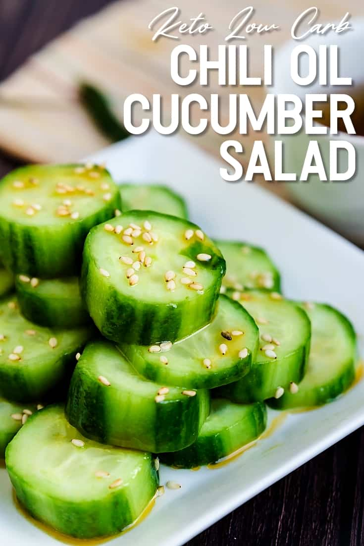 Chili Oil Cucumber Salad LowCarbingAsian Pin 1