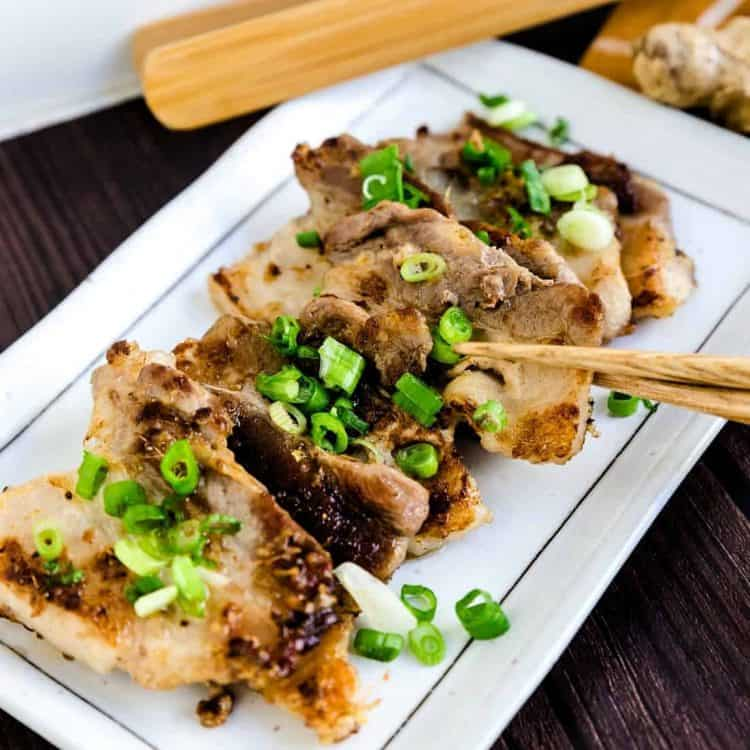 Crispy Sesame Ginger Pork Belly LowCarbingAsian Cover
