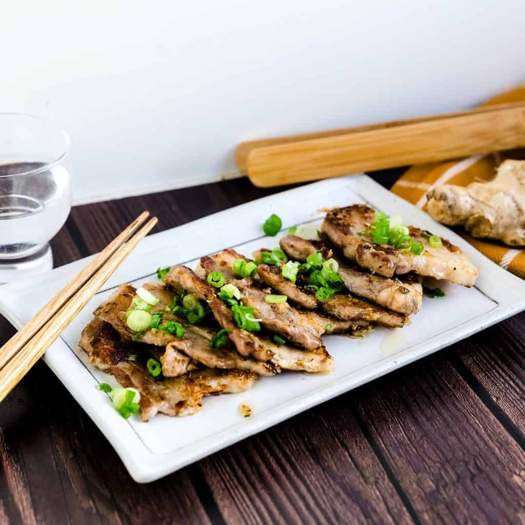 Crispy Sesame Ginger Pork Belly LowCarbingAsian Pic 1