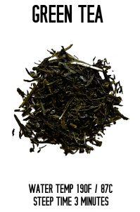 Green Tea Steep Info