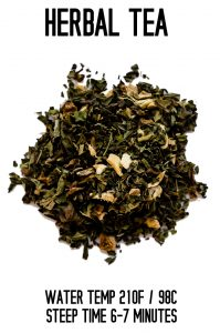 Herbal Tea Steep Info