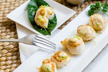 Japanese Style Butter Seared Scallops LowCarbingAsian Cover