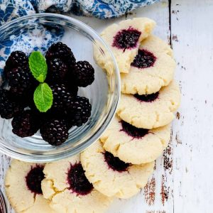 Keto Cream Cheese Blackberry Cookies LowCarbingAsian Cover