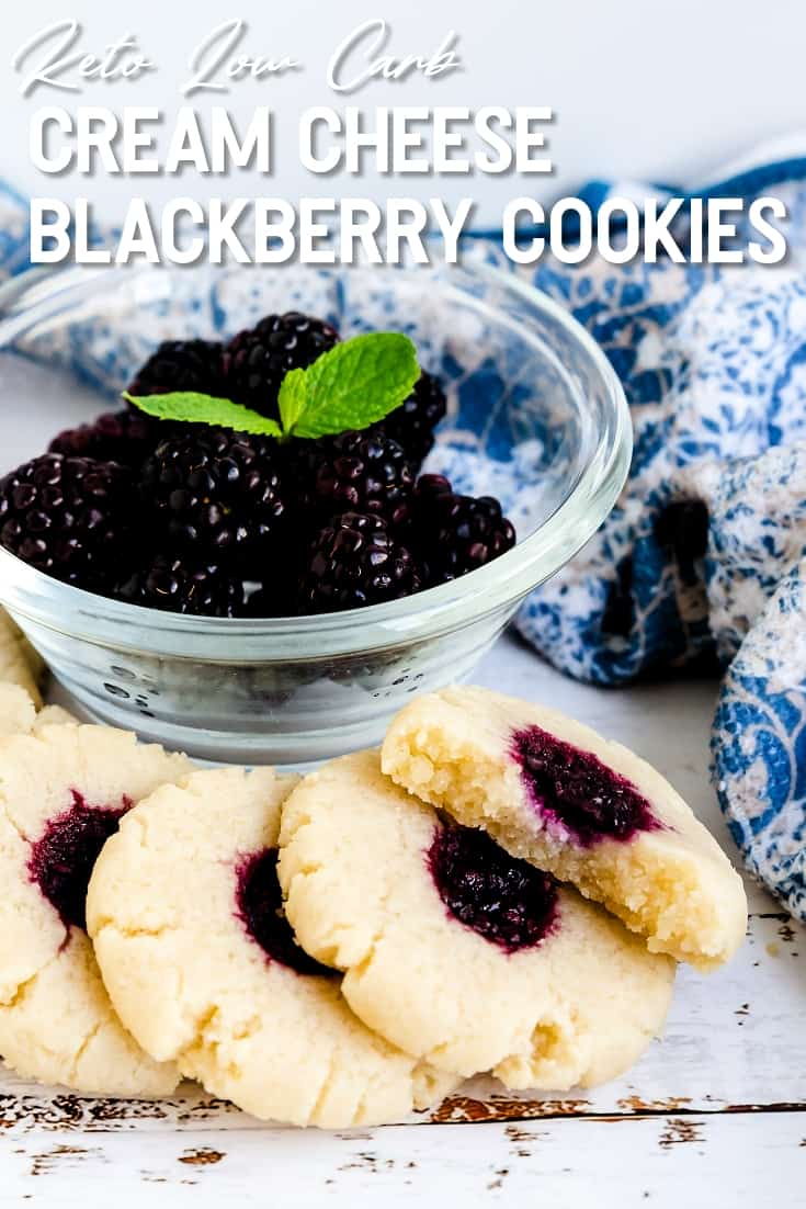 Keto Cream Cheese Blackberry Cookies LowCarbingAsian Pin 1
