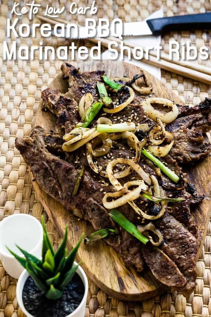 Keto Korean BBQ Marinated Spare Ribs LowCarbingAsian Pin 1
