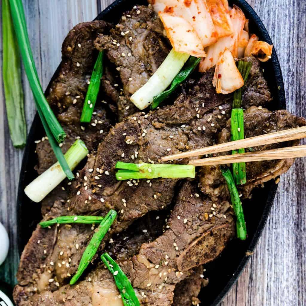 Keto Low Carb Korean BBQ Marinated Short Ribs LowCarbingAsian Pic 2