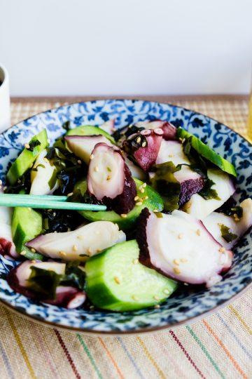 Keto Lowcarb Japanese Octopus Salad - Tako Su LowCarbingAsian Cover