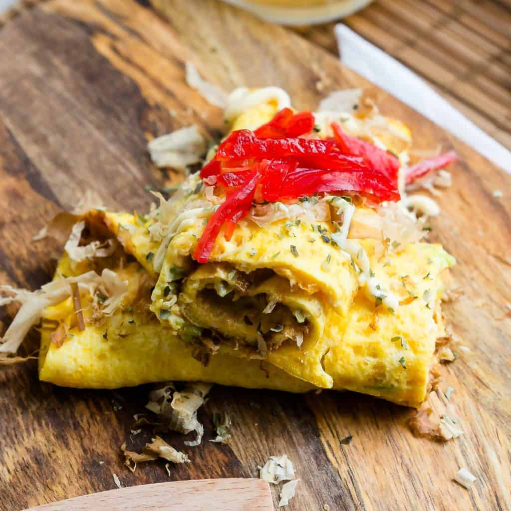 Keto Okonomiyaki Egg Roll Up LowCarbingAsian Pic 2