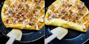Okonomiyaki Egg Roll Up