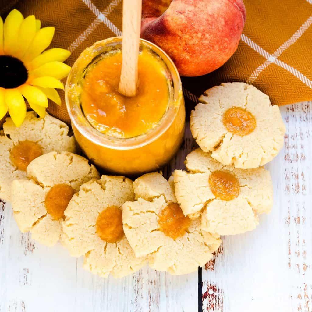 Keto Peach Cream Cheese Cookies LowCarbingAsian Pic 1